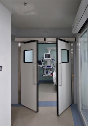 Porta automática para hospital
