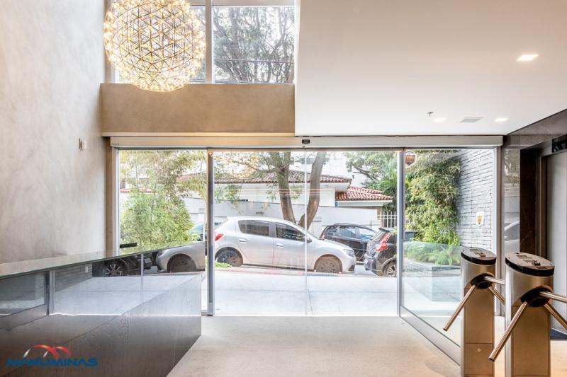 Porta deslizante automática de vidro
