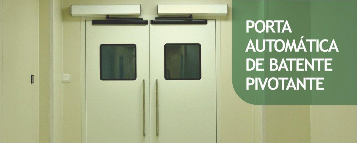 Porta Automática de Batente Pivotante