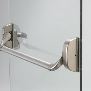 Barra antipânico para porta de vidro temperado
